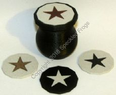 Black Glitter Effect Mini Storage Pot